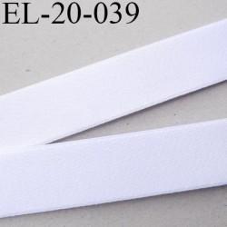 Elastique 19 mm bretelle lingerie doux et forte élasticité couleur blanc brillant haut de gamme largeur 19 mm prix au mètre