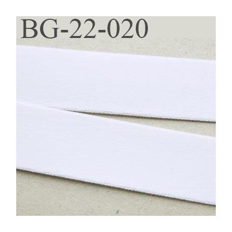 Devant bretelle 22 mm en polyamide attache bretelle rigide  pour les anneaux couleur naturel prix au mètre