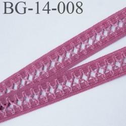 Biais galon 14 mm très beau couleur rose bali prix au mètre
