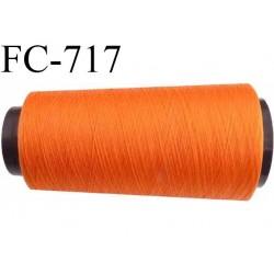 CONE 2000 m de fil polyester fil n° 180 couleur orange  longueur de 2000 mètres bobiné en France