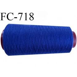 CONE 1000 m de fil polyester fil n° 180 couleur bleu lumineux  longueur de 1000 mètres bobiné en France