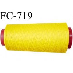 CONE 2000 m de fil polyester fil n° 180 couleur jaune lumineux  longueur de 2000 mètres bobiné en France