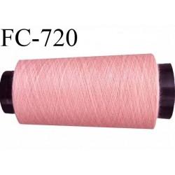 CONE 2000 m de fil polyester fil n° 180 couleur rose longueur de 2000 mètres bobiné en France