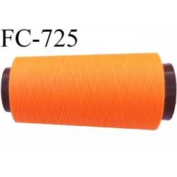 CONE 1000 m de fil polyester fil n° 180 couleur orange fluo longueur de 1000 mètres bobiné en France