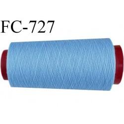 CONE 2000 m de fil polyester fil n° 180 couleur bleu longueur de 2000 mètres bobiné en France