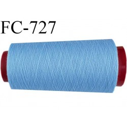 CONE 5000 m de fil polyester fil n° 180 couleur bleu longueur de 5000 mètres bobiné en France