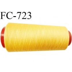 CONE 1000 m de fil polyester fil n° 180 couleur jaune tirant sur l'orangé longueur de 1000 mètres bobiné en France