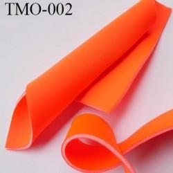 mousse de coque de sg lingerie très haut de gamme couleur orange  fluo largeur 145 cm 400 grs au m2  prix pour 10 cm par 145 cm