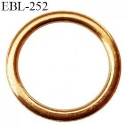anneau métallique 8 mm couleur or doré  brillant  pour soutien gorge diamètre intérieur 9 mm prix à l'unité haut de gamme