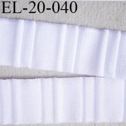 Elastique 22 mm bretelle et lingerie et autre très  belle qualité  40 % d'élasticité couleur blanc froncé largeur 22 mm