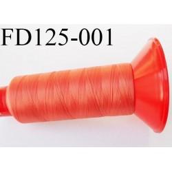 Destockage Cone 2500 m fil mousse polyamide n°120 couleur orangé ou corail longueur 2500 mètres  bobiné en France