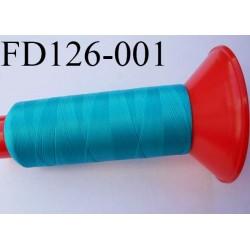 Destockage Cone 2500 m fil mousse polyamide n°120 couleur turquoise longueur 2500 mètres  bobiné en France