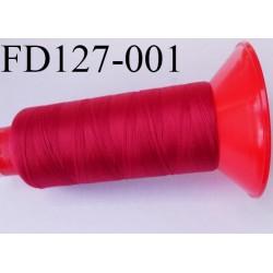 Destockage Cone 2500 m fil mousse polyamide n°120 couleur rouge tirant sur le bordeaux longueur 2500 mètres  bobiné en France