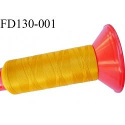 Destockage Cone 2500 m fil mousse polyamide n°120 couleur ocre longueur 2500 mètres  bobiné en France