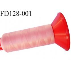 Destockage Cone 2500 m fil mousse polyamide n°120 couleur rose saumon longueur 2500 mètres  bobiné en France
