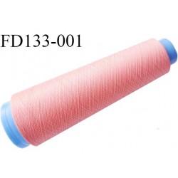 Destockage cone 3000 mètres de fil mousse polyester fil n°120 couleur saumon bobiné en France