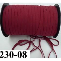 élastique plat largeur 8 mm couleur grenat prix pour 1 mètre de longueur