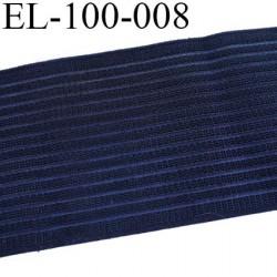 élastique 100 mm très belle qualité couleur noir  rigide sur la largeur souple et doux très agréable au touché prix au mètre