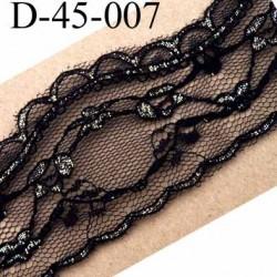 dentelle 45 mm synthétique couleur noir et doré largeur 45 mm prix au mètre