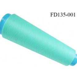 Destockage cone 3000 mètres de fil mousse polyester fil n°120 couleur vert lagon longueur 3000 m