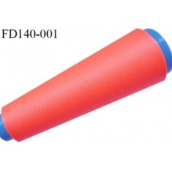Destockage cone 3000 mètres de fil mousse polyester fil n°120 couleur fluo plus fluo que sur la photo longueur 3000 m