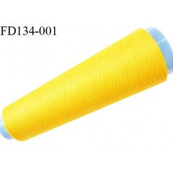 Destockage cone 3000 mètres de fil mousse polyester fil n°120 couleur jaune longueur 3000 m