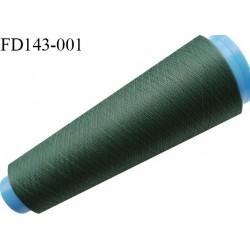 Destockage cone 3000 mètres de fil mousse polyester fil n°120 couleur vert  longueur 3000 m