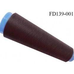 Destockage cone 3000 mètres de fil mousse polyester fil n°120 couleur marron longueur 3000 m