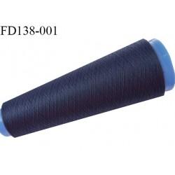 Destockage cone 3000 mètres de fil mousse polyester fil n°120 couleur bleu tirant légèrement sur le violet longueur 3000 m
