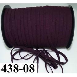 élastique plat largeur 8 mm couleur cassis prix pour 1 mètre de longueur