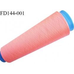 Destockage cone 3000 mètres de fil mousse polyester fil n°120 couleur saumoné corail longueur 3000 m