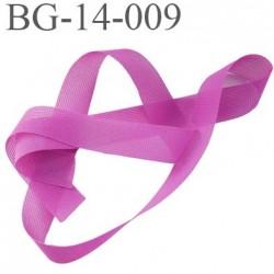 Droit fil a plat 14 mm couleur fushia spécial lingerie largeur 14 mm prix au mètre