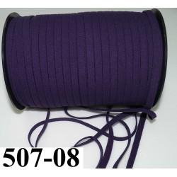 élastique plat largeur 8 mm couleur violet foncé prix pour 1 mètre de longueur