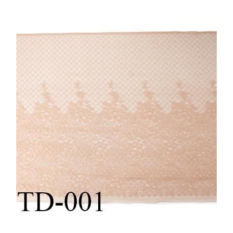 Dentelle 45 cm  très haut de gamme largeur 45 centimètres couleur chair très belle prix au mètre