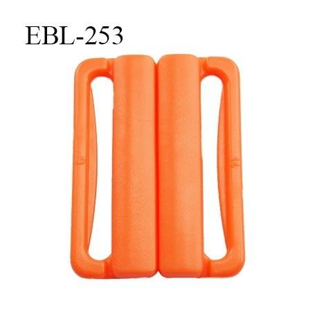 boucle clip 30 mm attache réglette pvc spécial maillot de bain couleur orange largeur du passage intérieur 30 mm  haut de gamme