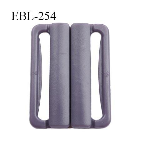 boucle clip 30 mm attache réglette pvc spécial maillot de bain couleur prune parme clair largeur du passage intérieur 30 mm