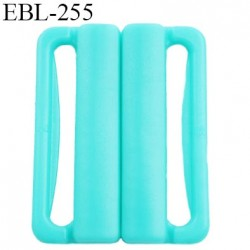 boucle clip 30 mm attache réglette pvc spécial maillot de bain couleur lagon largeur du passage intérieur 30 mm  haut de gamme