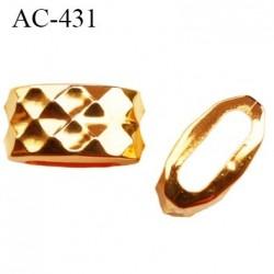 arret stop cordon 13 mm en pvc couleur or doré passage intérieur 9 mm par 3 mm