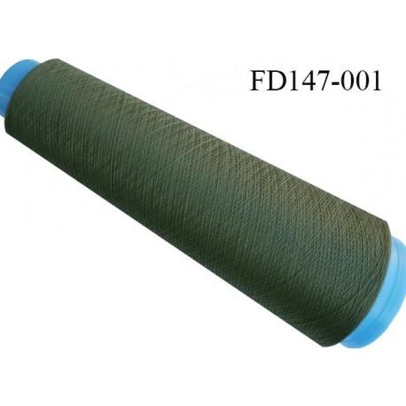 Destockage cone 3000 mètres de fil mousse polyester fil n°120 couleur vert kaki longueur 3000 m