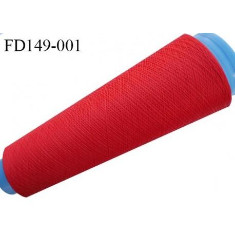 Destockage cone 3000 mètres de fil mousse polyester fil n°120 couleur rouge longueur 3000 m
