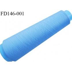 Destockage cone 3000 mètres de fil mousse polyester fil n°120 couleur bleu longueur 3000 m