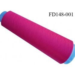 Destockage cone 3000 mètres de fil mousse polyester fil n°120 couleur fushia longueur 3000 m