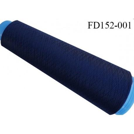 Destockage cone 3000 mètres de fil mousse polyester fil n°120 couleur bleu marine longueur 3000 m
