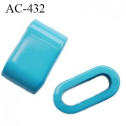 arret stop cordon 12 mm en pvc couleur turquoise passage intérieur 9 mm par 3 mm