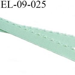 élastique lingerie 9 mm couleur vert largeur 9 mm +2 mm de picot doux prix au mètre