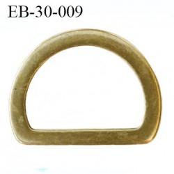 Etrier boucle 32 mm métal largeur intérieur 32 largeur extérieur 43 mm hauteur 33 mm  couleur laiton vieilli