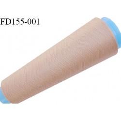 Destockage cone 3000 mètres de fil mousse polyester fil n°120 couleur chair longueur 3000 m