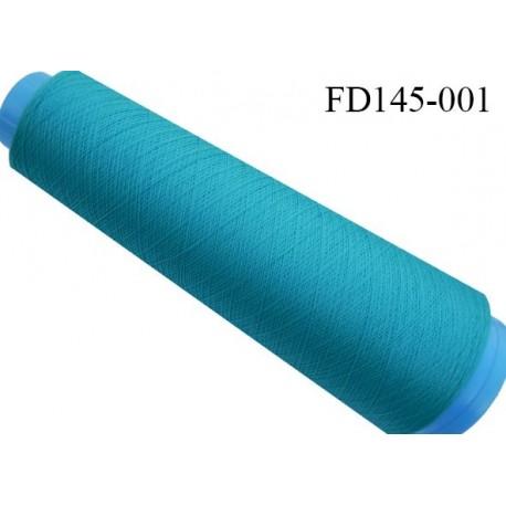 Destockage cone 3000 mètres de fil mousse polyester fil n°120 couleur bleu tirant vers le turquoise longueur 3000 m