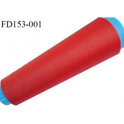 Destockage cone 3000 mètres de fil mousse polyester fil n°120 couleur rouge orangé longueur 3000 m