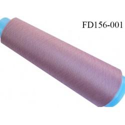 Destockage cone 3000 mètres de fil mousse polyester fil n°120 couleur vieux rose longueur 3000 m